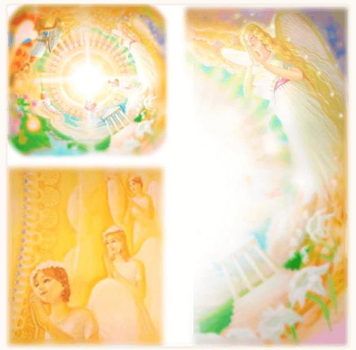 サロンの天井画と壁画